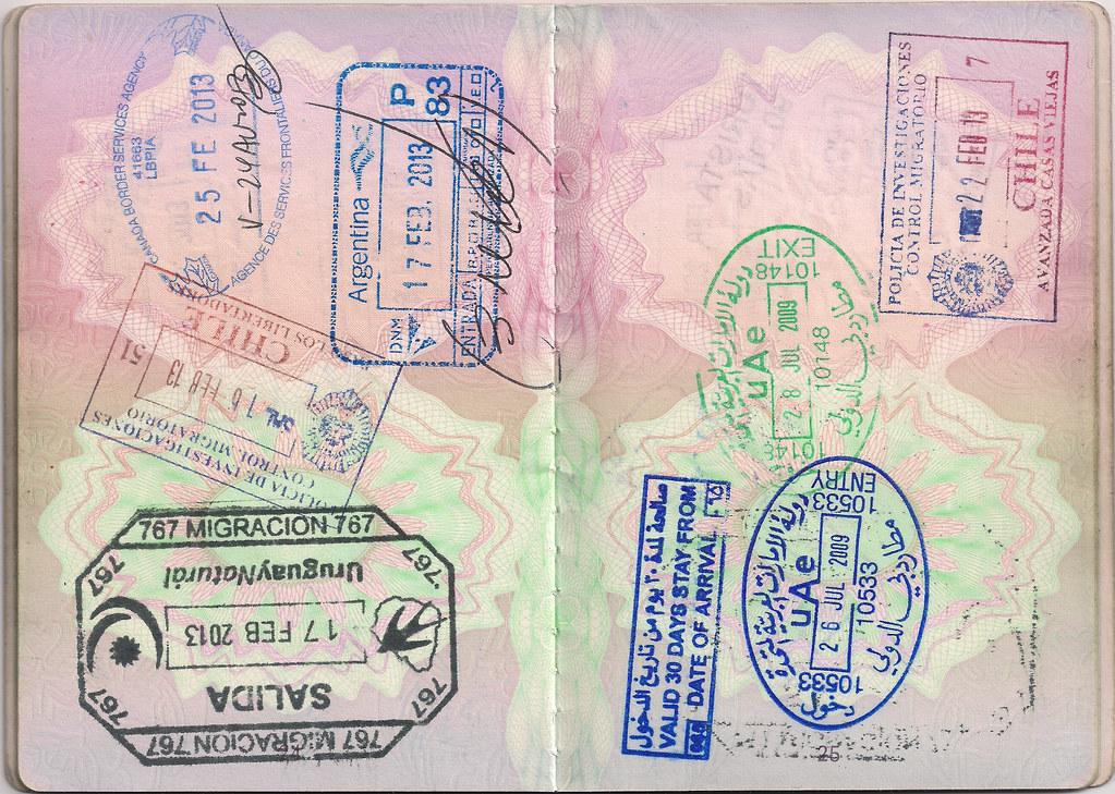 Uk Passport Argentina Canada Chile Uruguay Uae Flickr
