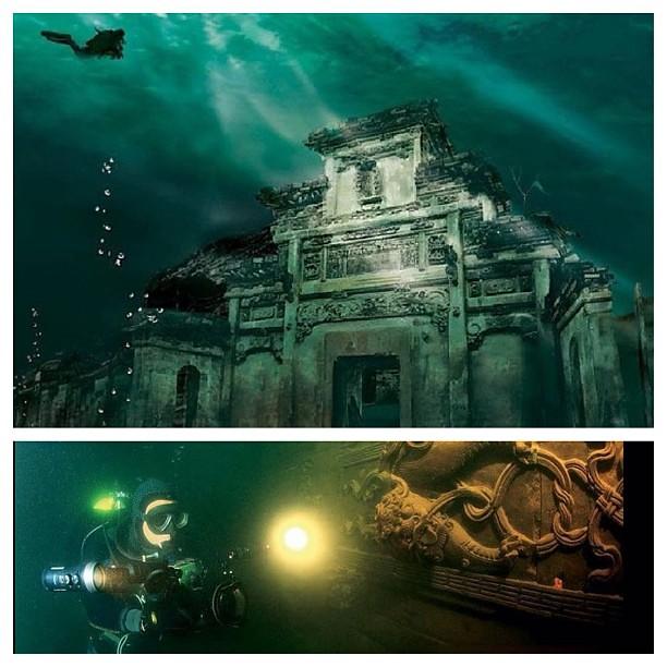 LION CITY The Chinantis! china style atlantis.real flooded old village. #enekoporvida #china #lioncity#wushinmountain #qindaolake#underwater #redDiveParadise #MaoSink #cagaderoDeMao #chinantis    #dissenterbydisposition