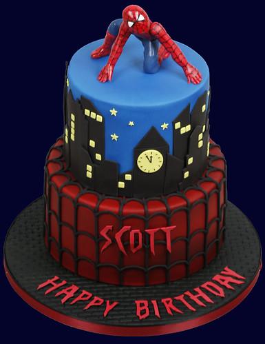 Spiderman Cake For My Nephews 21st Birthday Bottom Tier