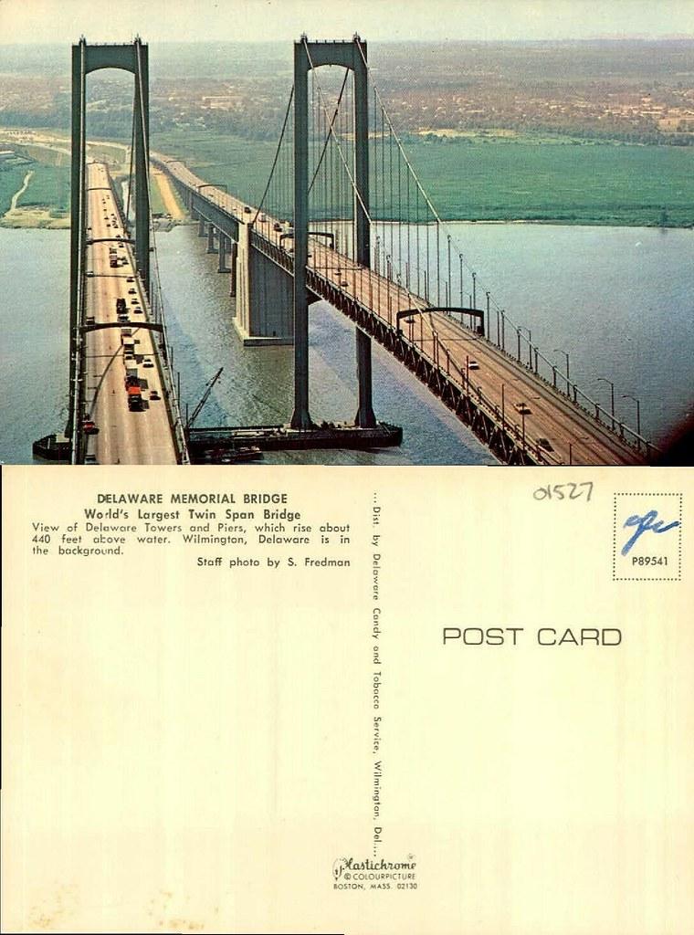Delaware Memorial Bridge  Collection Caley Postcards