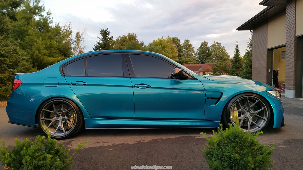 Bmw M3 F80 Atlantis Blue Metallic On Hre P101 Wheels