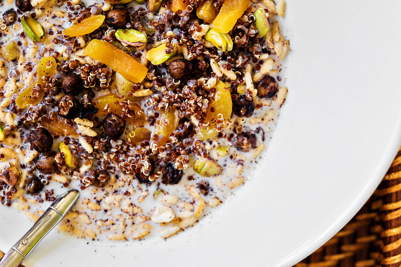 Night Cereal: Red Quinoa and Crispy Cinnamon Chickpea Bowl ...