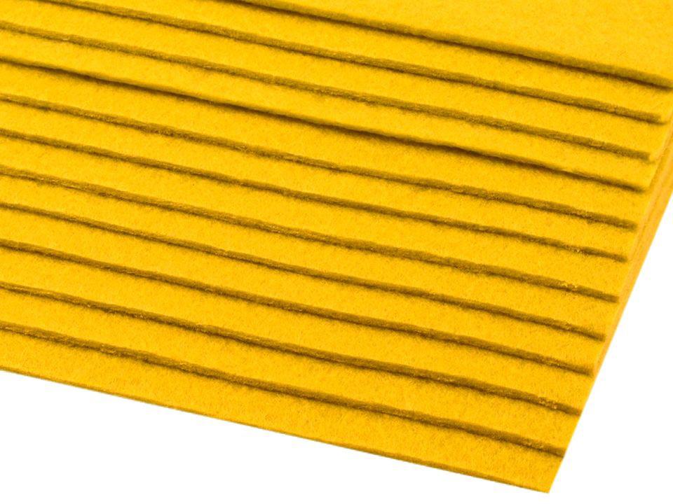 Filz (Stärke 2 - 3mm) gelb, VE: 12 Bögen