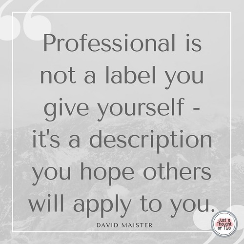 be professional quote