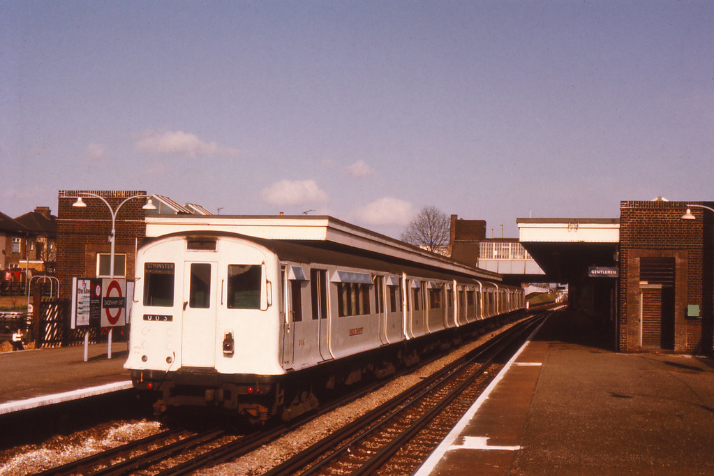 R Stock Dagenham East 1980 A Train Of R Stock Forming