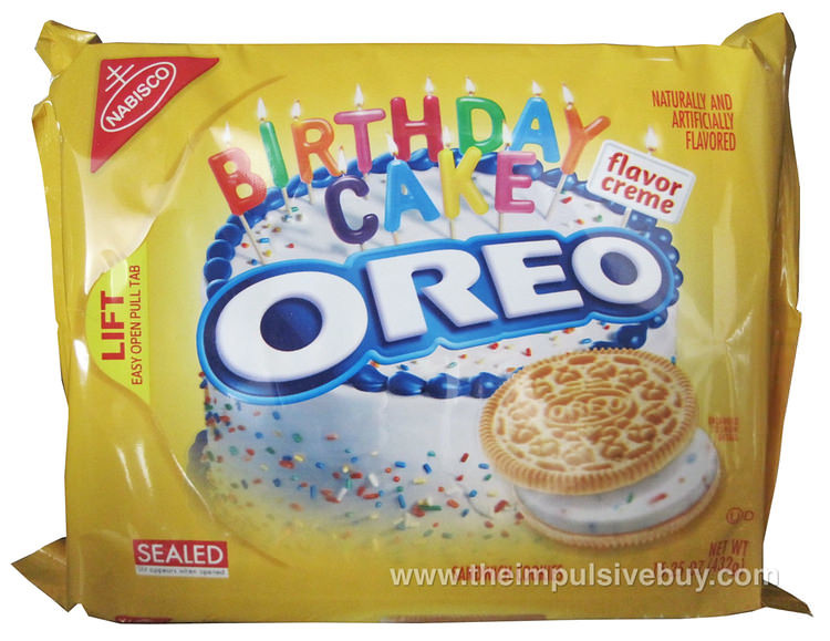 Oreo Golden Birthday Cake Cookies