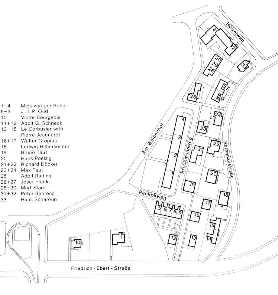 Plan Weissenhof Wei Enhofsiedlung Estate