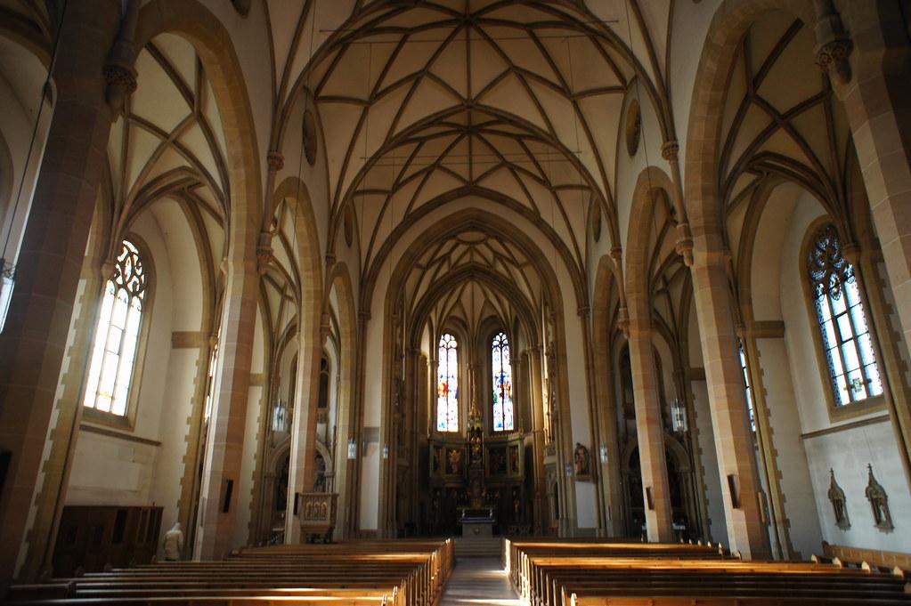 Speyer church interior   Speyer St. Joseph church interior