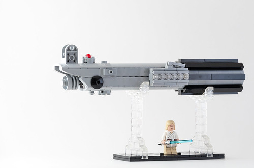 how to make a lego luke skywalker lightsaber