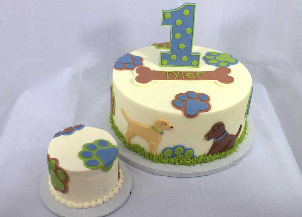 Puppy Dog Birthday Cake And Smash Cake Sara Mayes Flickr