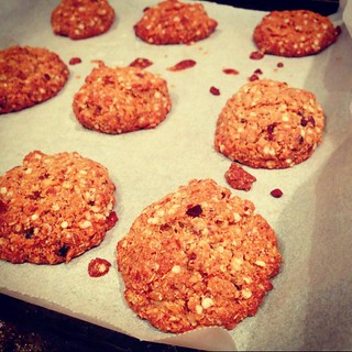 Freshly baked gluten-free Anzac Biscuits. A lot nicer looking than first batch! #food | by Adriana Glackin