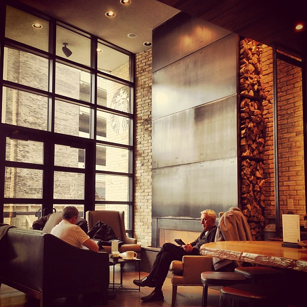 rushandoak #starbucks #interior #fireplace #lounge #2ndfl… | Flickr