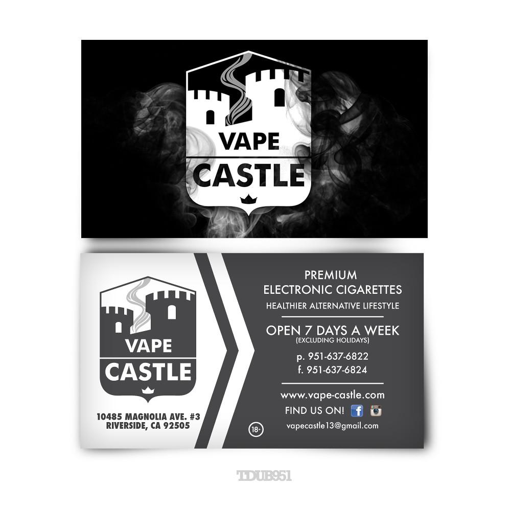 Vape Castle Business Cards Logo Treatment Back Of Card De Flickr