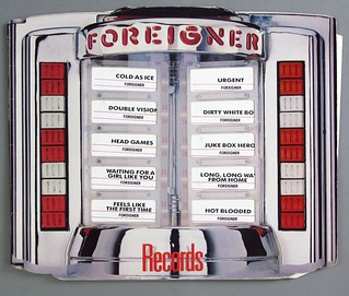"FOREIGNER RECORDS DIE-CUT COVER 12"" LP VINYL"