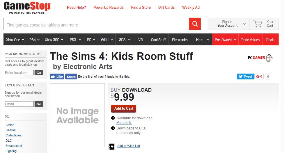 Kids Room GameStop