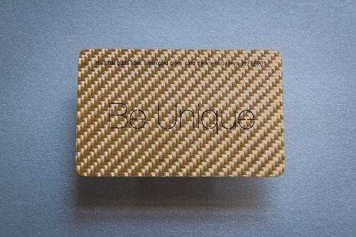Gold Glass Fiber Card  Pure Metal Cards glass fiber