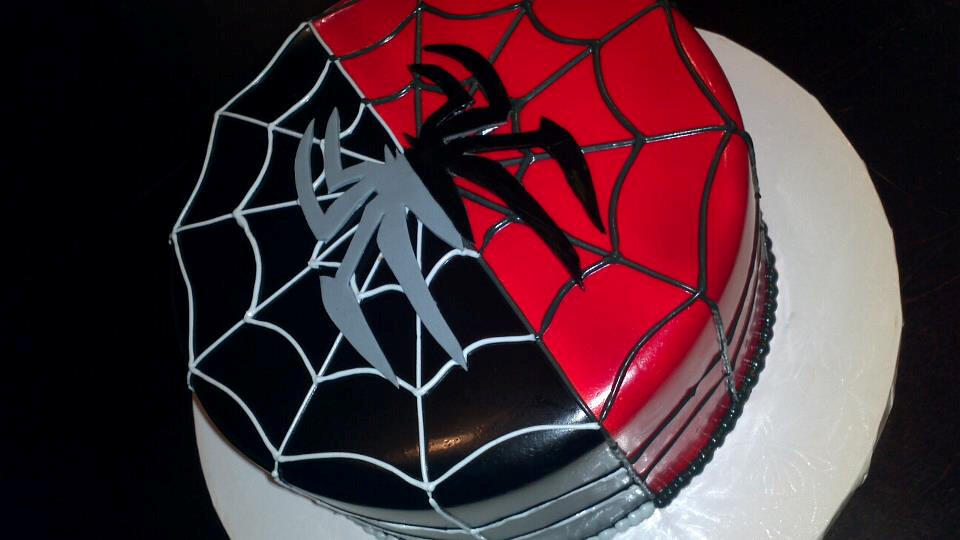 Layer Red And Black Fondant Cakes