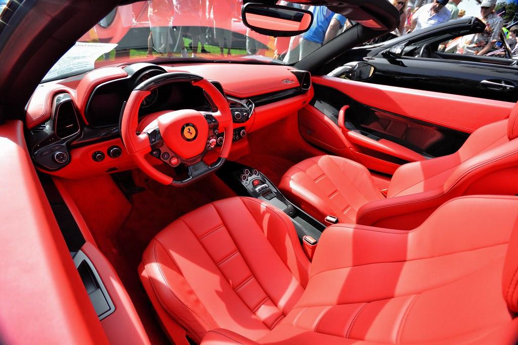 Ferrari 458 Spider interior | 2013 Sarasota Exotic Car ...  Ferrari 458 Spi...
