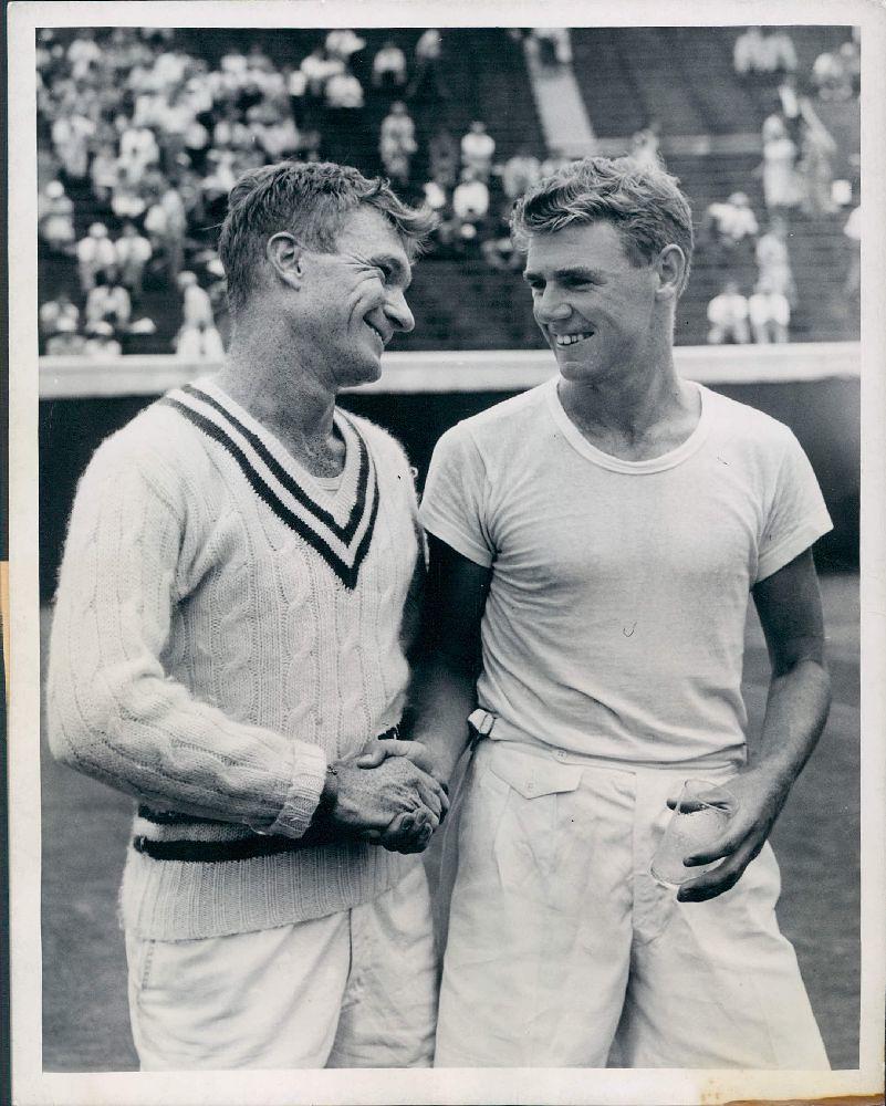 Earl Cochell & Frank Sedgman Forest Hills Tennis Stadium …