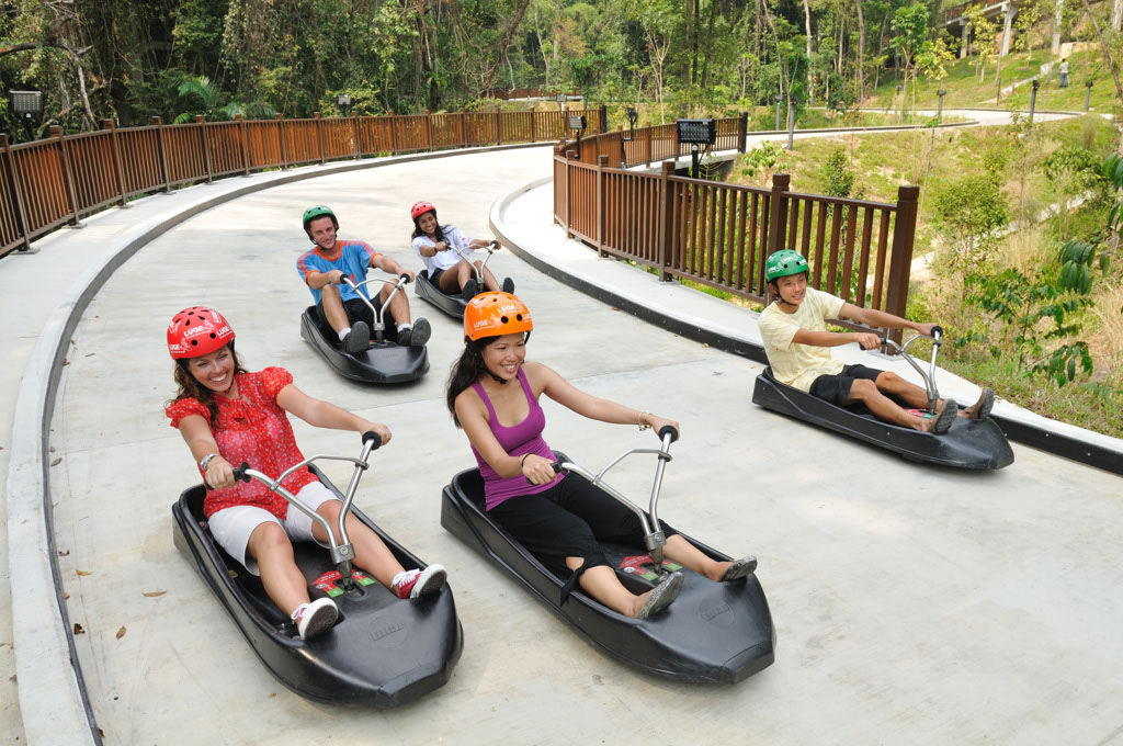 Skyline Luge Sentosa - Group Luge | Group of friends ...