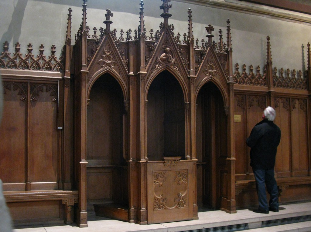 Confession Booth Notre Dame Cathedral Luxembourg
