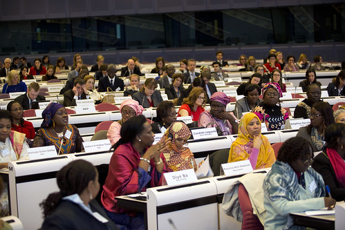 Aidara Aichatou Cisse of Mali speaks at the Conference on Women's Leadership in the Sahe | by UN Women Gallery