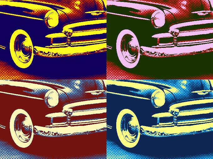 Pop Art Chevy | 1950 Chevy in Pop Art edit from iPiccy ...