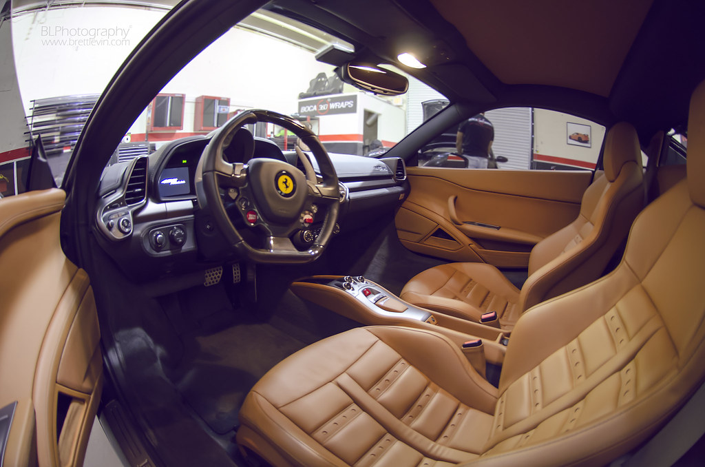 ... 2013 Ferrari 458 Italia Interior Shot | By Brett Levin Photography