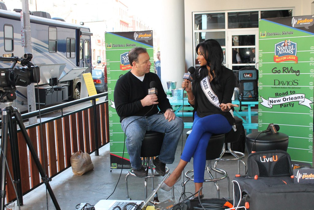 Superior ... Nana Meriwether, Reigning Miss USA, Streamed Live On FootballNation.com  Via LiveU From