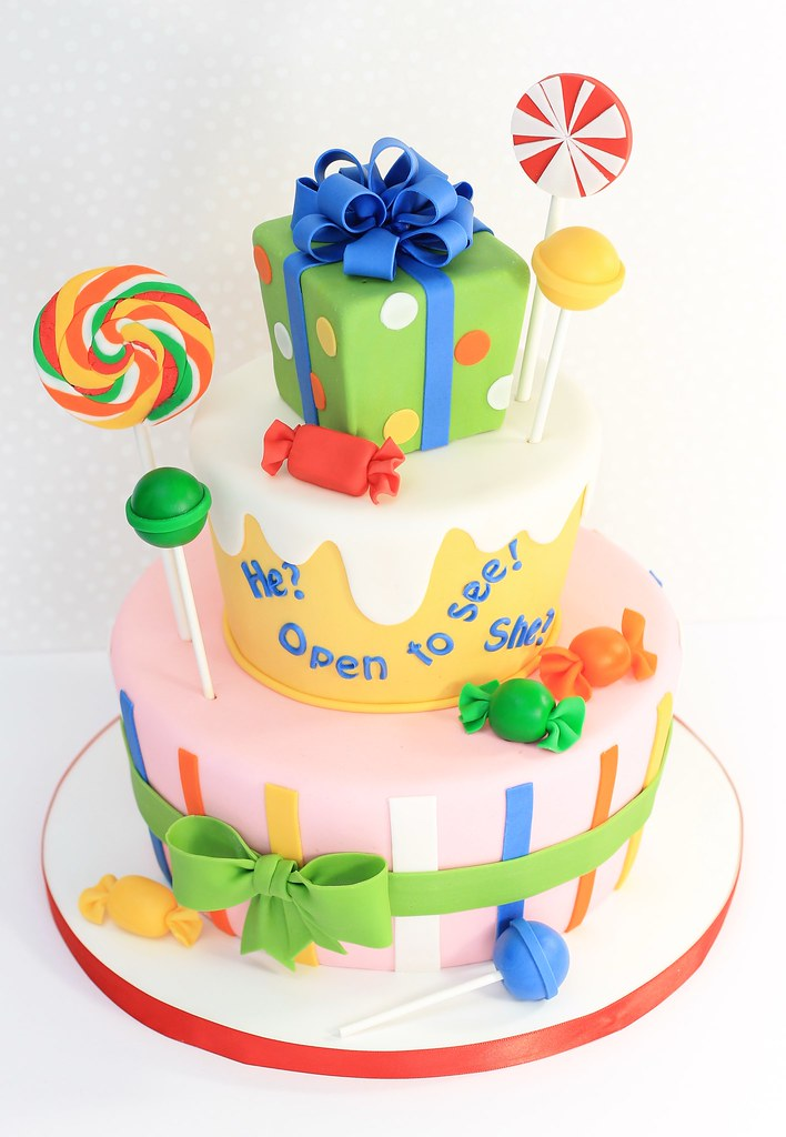 Candy Themed Baby Shower Cake This Was For A Quot Gender