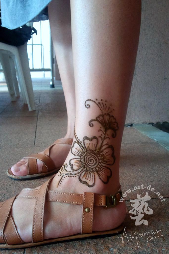 Aupoman Hk Henna Tattoo Foot 8b Henna Tattoo By Aupoman In Flickr