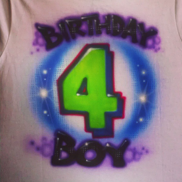 We Happy Birthday Airbrush Shirts Order Airbrushed Shirtshatsshoes In LA