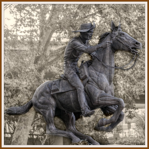 Pony Express statue in Old Sacramento California ( 2 Views ) | by Loco Steve