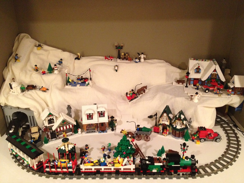 2012 lego winter village my christmas village diorama. Black Bedroom Furniture Sets. Home Design Ideas