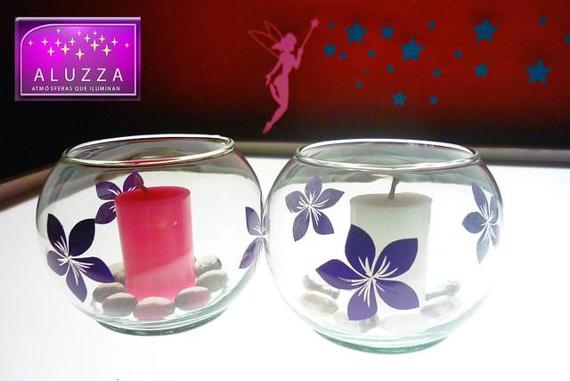 Peceras decoradas para recuerdos o centros de mesa de xv a for Mesas decoradas para 15 anos