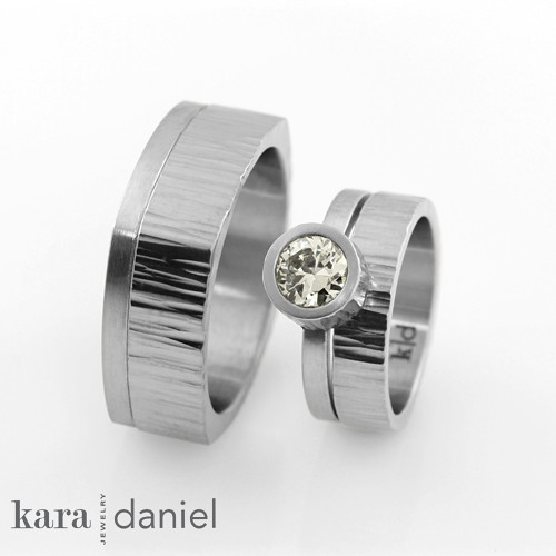 Stainless Steel Diamond Engagement Rings Stainless Steel Engagement