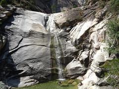 Descente de la Purcaraccia : la 1ère cascade de 40m