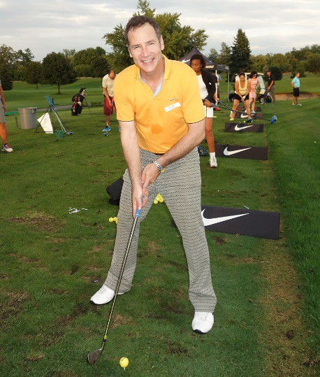Rob Campbell at Singles Golf Lessons Mixer at Lionhead Event