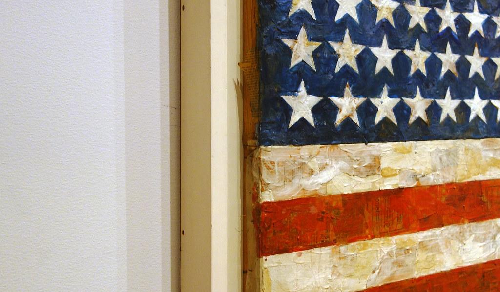 Jasper Johns, Flag, oblique view | Jasper Johns, Flag ...