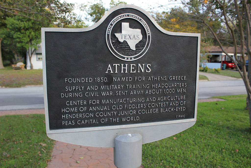 Athens Texas Historical Marker Founded 1850 Named For