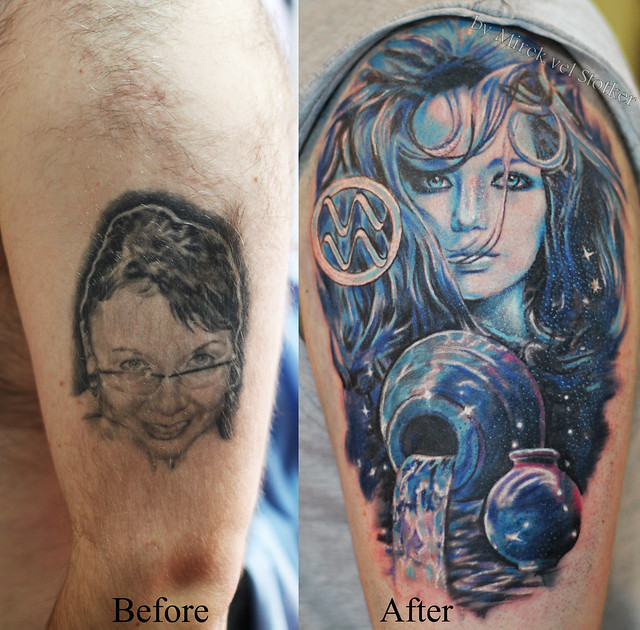Aquarius Tattoo Cover Up By Mirek Vel Stotker  Flickr Photo Sharing