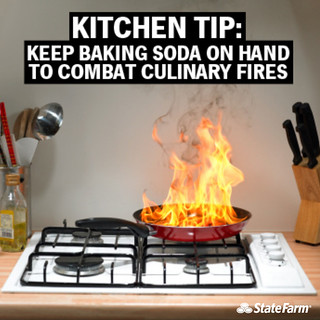 Kitchen Fire Safety Tip: Baking Soda | by State Farm