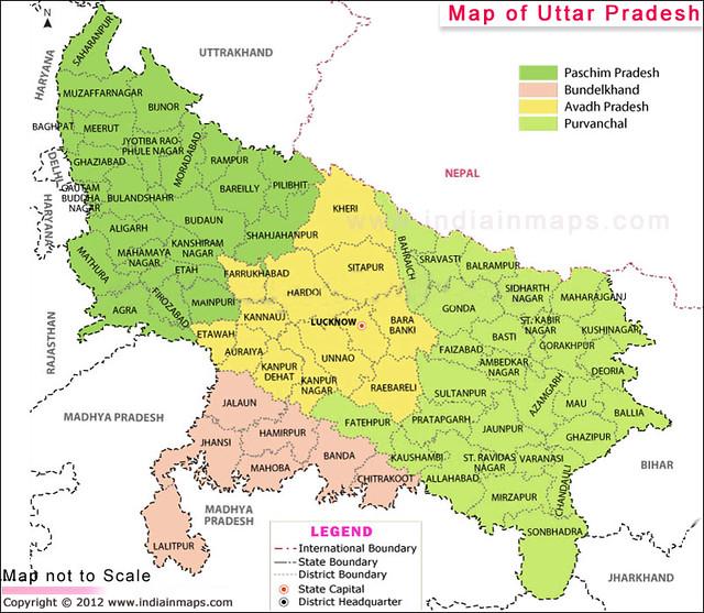 Map of uttar pradesh flickr photo sharing for Cuisines of uttar pradesh