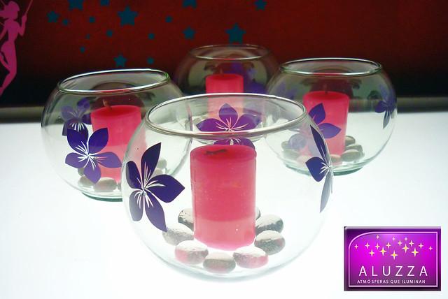 Peceras decoradas para recuerdos o centros de mesa de xv a - Decoraciones de peceras ...