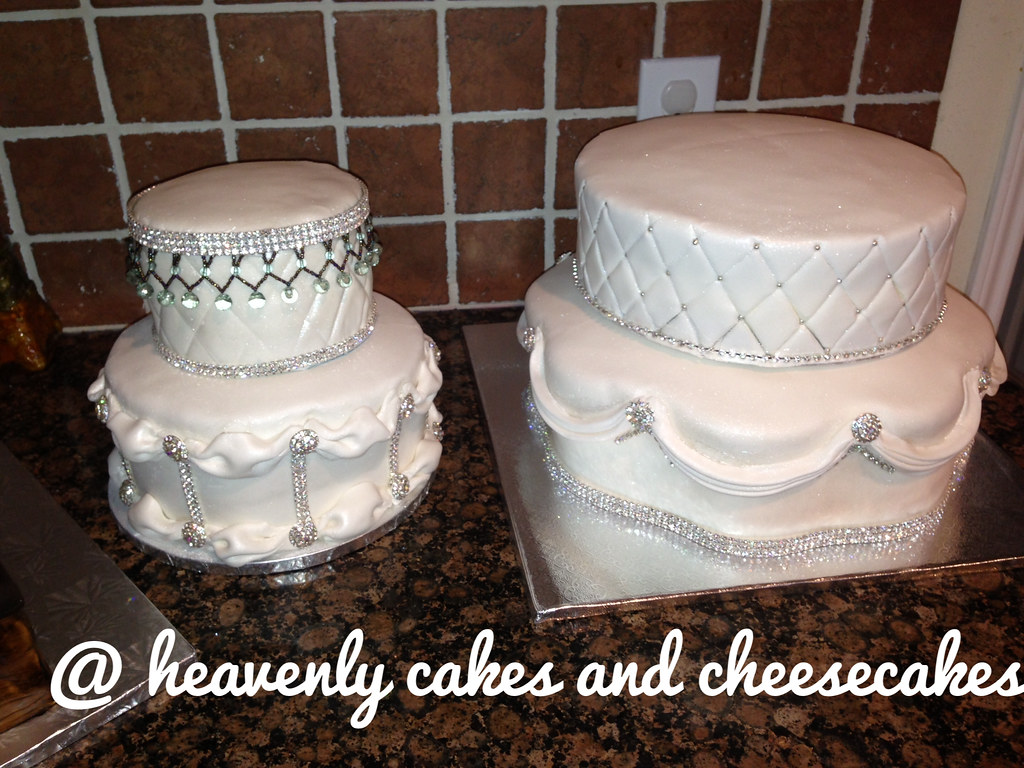Bling wedding cake heavenlycakesandcheesecakes