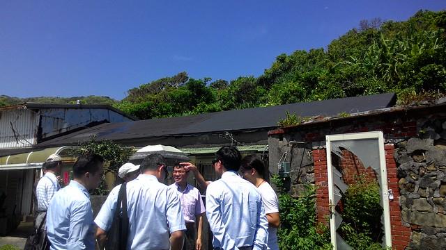 環評委員現勘八斗子旅館開發案。攝影:林倩如。