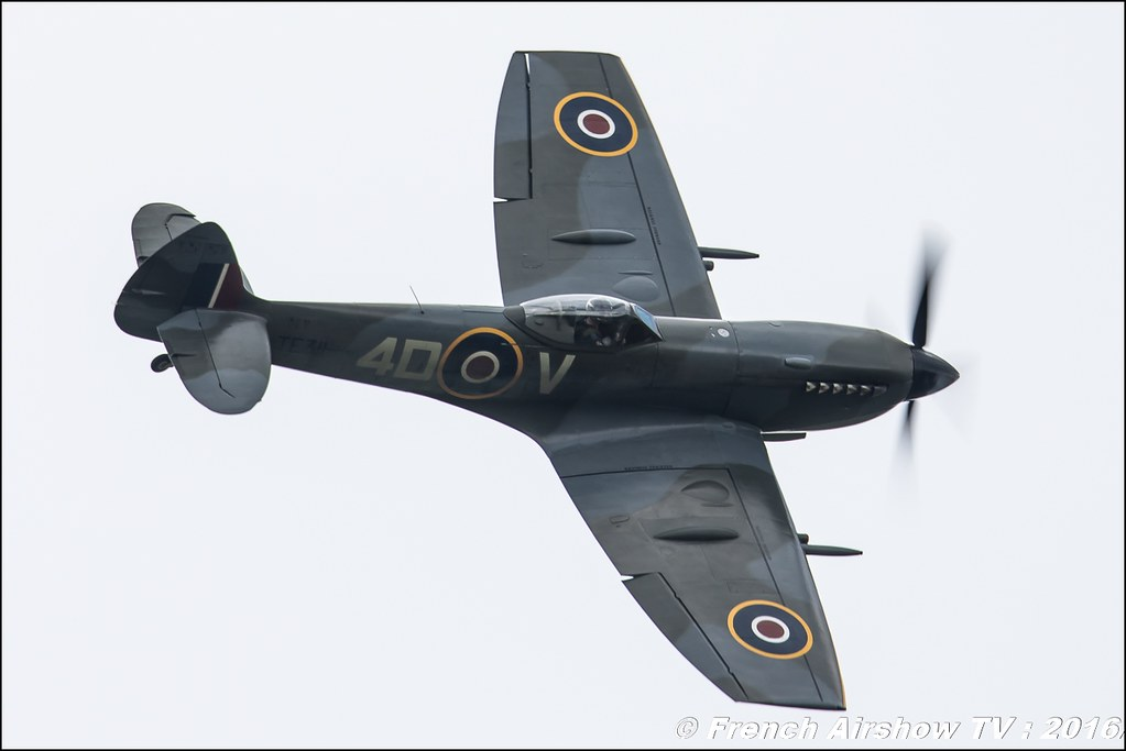 Royal Air Force Battle of Britain Memorial Flight Supermarine Spitfire TE311 ,Belgian Air Force Days 2016 , BAF DAYS 2016 , Belgian Defence , Florennes Air Base , Canon lens , airshow 2016