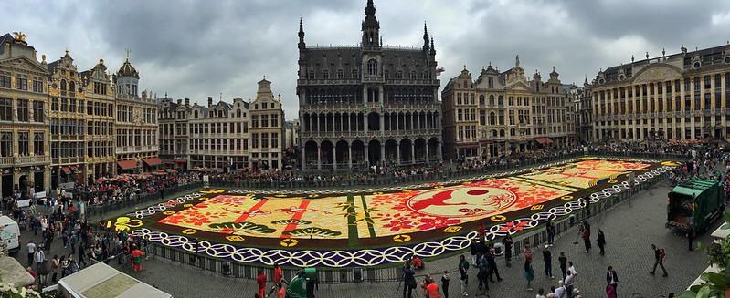 Panorámica de la Alfombra Floral de Bruselas 2016