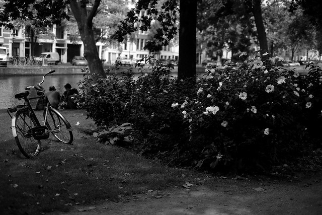 Bike at canal in Amsterdam 1