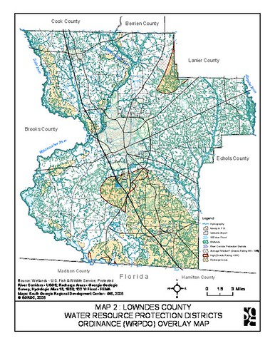 Lowndes County Water Resource Protection Districts Ordinance (WRPDO) Overlay Map | by faul